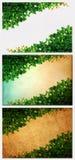 Die grüne Kriechpflanze-Anlage auf altem Papier Lizenzfreies Stockfoto