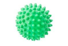 Die grüne Kugel mit Spitzen. Lizenzfreie Stockfotos