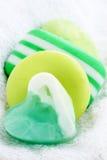 Die grüne Seife Stockfotos