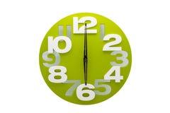 Die grüne Uhr Lizenzfreies Stockfoto
