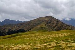 Die grünen alpinen Weiden bei Ali Bugyal Lizenzfreies Stockbild
