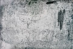 Die graue, blaue, weiße Betonmauer mit Gipsentlastungsmuster lizenzfreie stockfotos