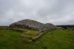 Die grauen Steinhaufen von Camster in Schottland, Europa stockfotos