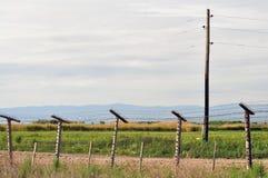 Die Grenze zwischen Armenien und der Türkei Stockfotos
