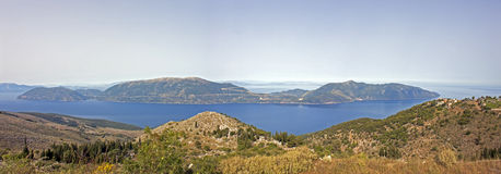 Die griechische Insel von Ithaca lizenzfreie stockbilder