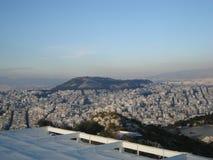 Die griechische Stadt von Athen gesehen von oben Lizenzfreies Stockbild