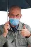 Die Grippe - überschreitet nicht! stockfoto