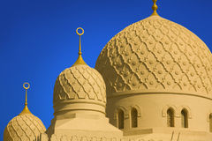 Die großartige jumeirah Moschee in Dubai Lizenzfreies Stockbild