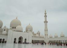 Die großartige Moschee von Abu Dhabi Lizenzfreies Stockfoto