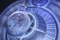Die großartige Uhr bei Hogwarts stockfotografie