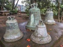 Die große Bell der Jungfrau von Tepeyac-Kirche, San Rafael del Norte, Stockfotos