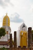 Die große Buddha-Statue ist in der Park ` s Geschichte Wat Pra-sri ratt Stockbilder