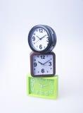 Die große Glocke stellt aufwachen sicher Wecker auf Hintergrund Wecker auf dem backg Lizenzfreie Stockbilder