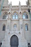 Die große gotische Wand der Kirche Lizenzfreie Stockbilder
