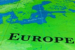 Die große Karte - eine gigantische Karte aller Meere, Ozeane und Kontinente in einer der Hallen des nationalen Seemuseums, London lizenzfreie stockfotografie