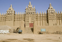 Die große Moschee von Djenne. Mali. Afrika Lizenzfreie Stockfotografie