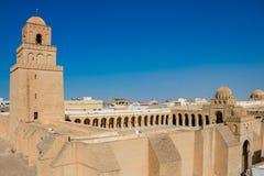Die große Moschee von Kairouan Die Ästhetik bedeutete die große Moscheen- und Kairouan-Stadt, Tunesien lizenzfreie stockfotografie