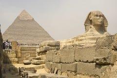 Die große Sphinx Ägyptische Sphinx Das 7. Wunder der Welt Alte Megalithe Stockfotografie
