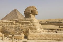 Die große Sphinx Ägyptische Sphinx Das 7. Wunder der Welt Alte Megalithe Lizenzfreie Stockbilder