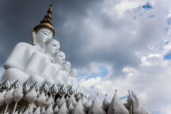 Die große Statue von großem Buddha in Thailand Stockbild