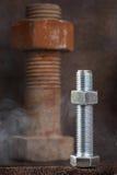 Die große und kleine Schraube Stockbild