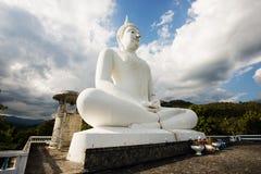 Die große weiße Buddha-Statue, Thailand stockfoto