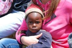 Die großen Augen von Afrika Stockfotografie