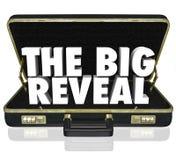 Die großen decken Öffnungs-Aktenkoffer-aufschlussreiches Geheimnis nach innen auf Lizenzfreie Stockbilder
