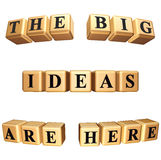 Die großen Ideen sind hier Isolat Lizenzfreie Stockbilder