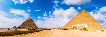 Die großen Pyramiden von Giseh, Ägypten lizenzfreies stockbild