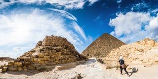 Die großen Pyramiden von Giza stockbild