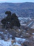 Die großen Rocky Mountains-Berge in Denver Colorado Stockfoto