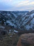 Die großen Rocky Mountains-Berge in Denver Colorado Stockfotografie