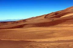 Die großen Sanddünen Stockfoto