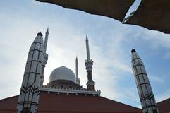 Die gro?e Moschee von Jawa Tengah stockfotos