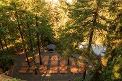 Die Grotte, ist ein katholischer Schrein und ein Schongebiet im Freien, die im Madison South-Bezirk von Portland, Oregon, Vereini lizenzfreies stockbild