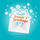 Die Gruß-Umschlag der Jahreszeit vektor abbildung
