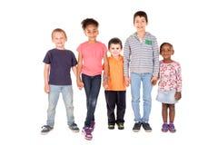 Die Gruppe der Kinder Stockfotos