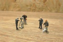 Die Gruppenfilmmarkierung der Spielzeugzahl Lizenzfreie Stockfotos
