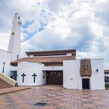 Die Guatavita-Stadtzentralkirche Lizenzfreie Stockbilder