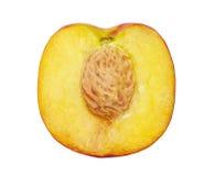 Die Hälfte des Pfirsiches Stockfoto