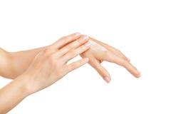 Die Hände der Frauen lizenzfreies stockbild