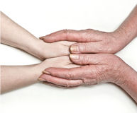 Die Hände der Mutter Lizenzfreie Stockbilder