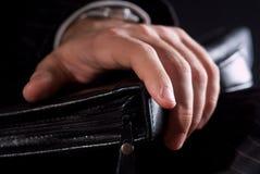 Die Hände eines Geschäftsmannes Stockfotos