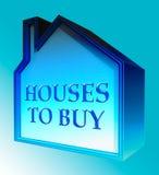 Die Häuser, zum von Durchschnitten zu kaufen verkaufen Wiedergabe des Eigentums-3d Stockbilder