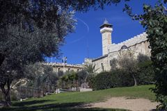 Die Höhle der Patriarchen in Hebron stockfotografie