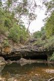 Die Höhle von Nargun Stockfoto