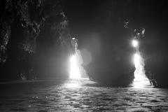 Die Höhlen in ballybunion Klippen Stockbilder