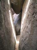 Die Höhlen an der Jungfrau Gorda: Spalt Stockbild
