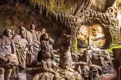Die Höhlen-Kirche Piedigrotta, Kalabrien lizenzfreies stockbild